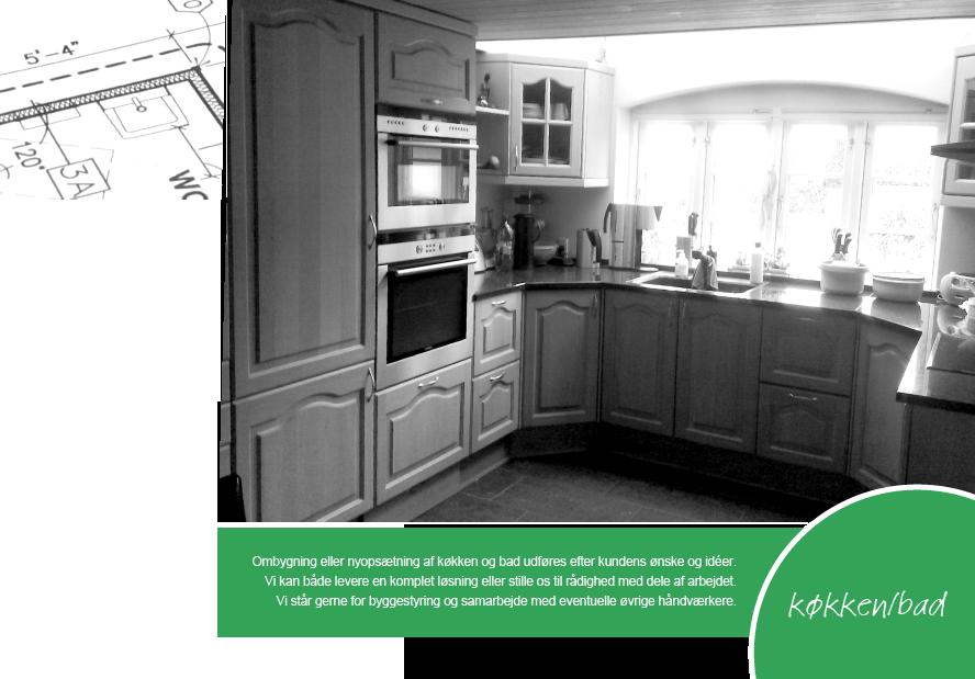 Eller nyopsætning af køkken og bad udføres efter kundens ønske og